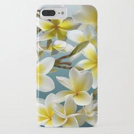 Plumeria on Blue iPhone Case