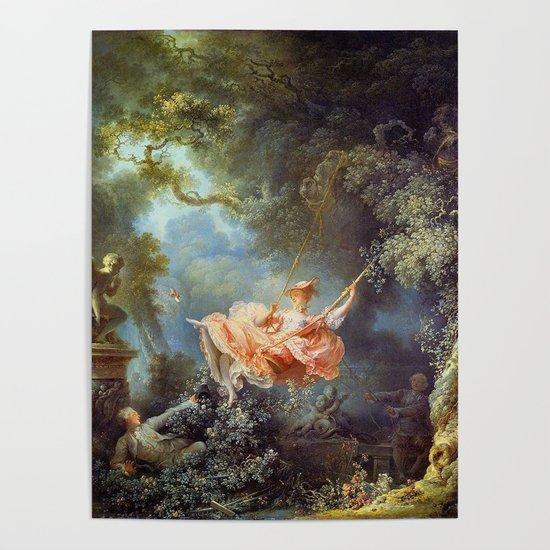 Jean-Honoré Fragonard - The Swing by famouspaintings
