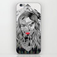 cara iPhone & iPod Skins featuring Cara by Veronique de Jong