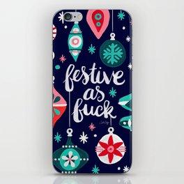 Festive As Fuck – Navy Palette iPhone Skin