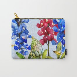 Bluebonnets 2 Carry-All Pouch