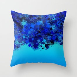 paint splatter on gradient pattern bl Throw Pillow
