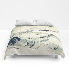 Flight Over Yatsugate Comforters