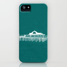 Seaside Pier in Turquoise iPhone Case