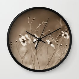 Yesterday with the wildflowers Wall Clock