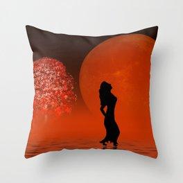 red fog Throw Pillow