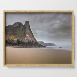 The Great Tor in Gower Serving Tray