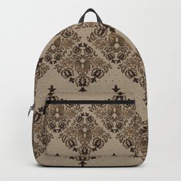 Persian Oriental pattern pastel gold Backpack