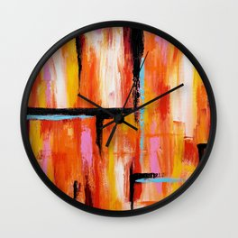 Abstract Orange 2 Wall Clock