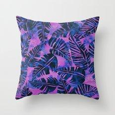 Lani Kai Leaf Purple Throw Pillow