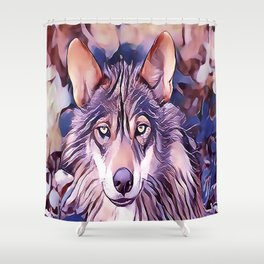 The Iberian Wolf Shower Curtain