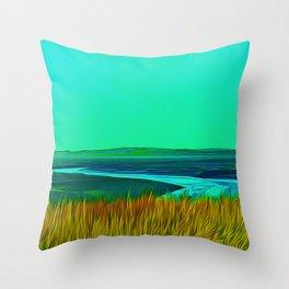 River Alt (Digital Art) Throw Pillow