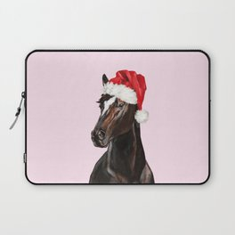 Christmas Horse in Pink Laptop Sleeve