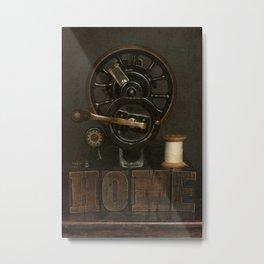Home and Vintage Sewing Machine Metal Print
