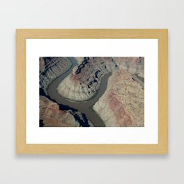 Confluence of the Green and Colorado River Framed Art Print