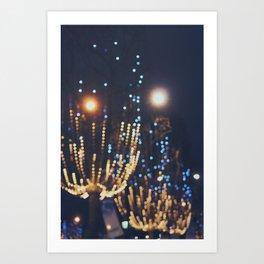 Christmas lights in Paris (3) Art Print