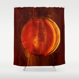 meditation orange Shower Curtain