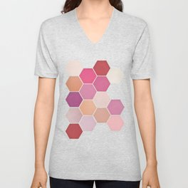 Shades of Pink Unisex V-Neck