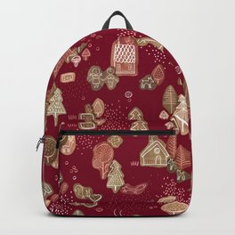 Hansel and Gretel Fairy Tale Gingerbread Pattern Backpack