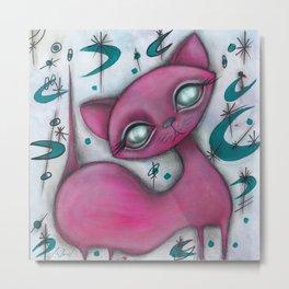 Jane cat Metal Print