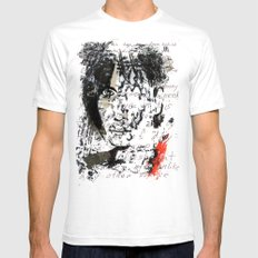 PATTI  SMITH Mens Fitted Tee White SMALL