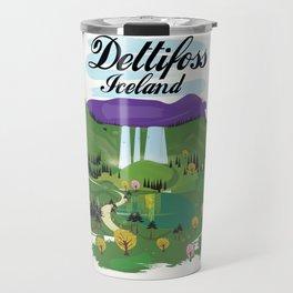 Dettifoss Icelandic holiday poster. Travel Mug