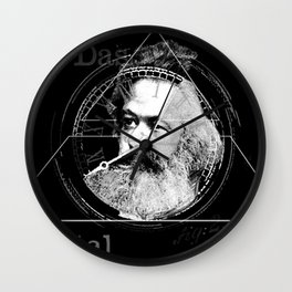 The Time of Marx Dark Wall Clock