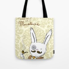 Moustache wins. Always. Tote Bag