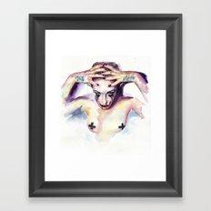 Trust noone Framed Art Print