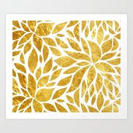 Golden Bloom Art Print