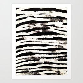 Abstract Brush Strokes Art Print