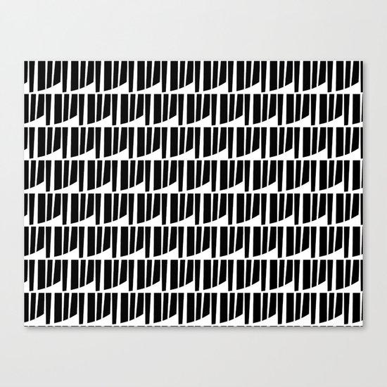 Westfranke Black & White Pattern Canvas Print