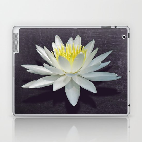Lily with Purple Ripples Laptop & iPad Skin