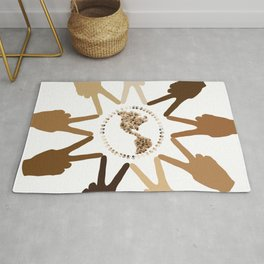 Peace of Earth In Our Hands Rug