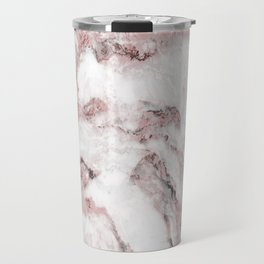 White and Pink Marble Mountain 01 Travel Mug
