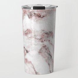 White and Pink Marble Mountain 01 Travel Mug