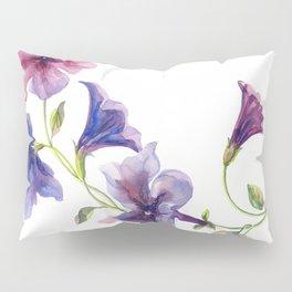 Watercolor branch of petunia. Pillow Sham
