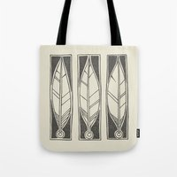 ethnic Tote Bags featuring Ethnic Feathers by rob art | simple