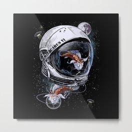 Fish Astronauts Metal Print