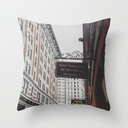 Views from the French Quarter Throw Pillow