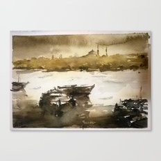 Istanbul in yellow Canvas Print