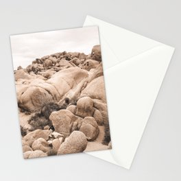 California Joshua Tree National Park Rock Formations Stationery Cards