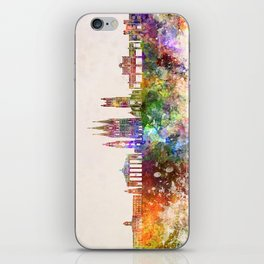 Cork skyline in watercolor background iPhone Skin