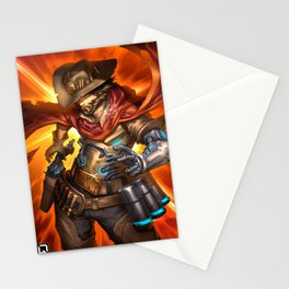 over mccree Stationery Cards
