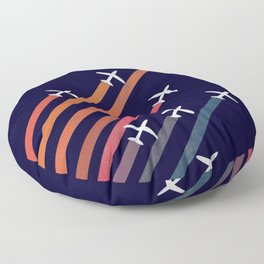 Aerial acrobat Floor Pillow