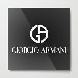 Giorgio Armani/GA Logo Metal Print