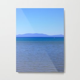Blue Layers Metal Print