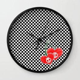 Heart Cherry Skullz Wall Clock