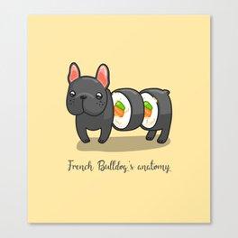 French bulldog maki sushi Canvas Print