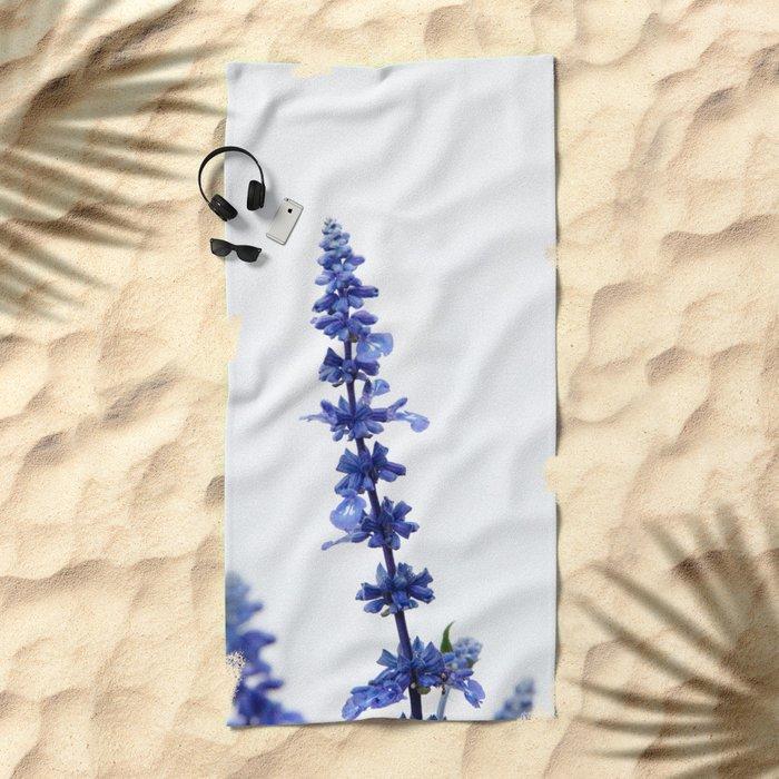 Blue Flower #1 #decor #art #society6 Beach Towel